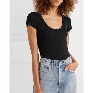 Agolde ribbed tshirt bodysuit